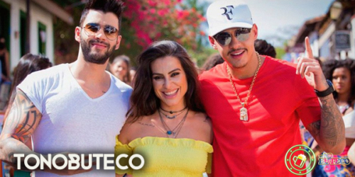 Gusttavo Lima grava clipe de nova música com participação de Hungria e Cléo Pires