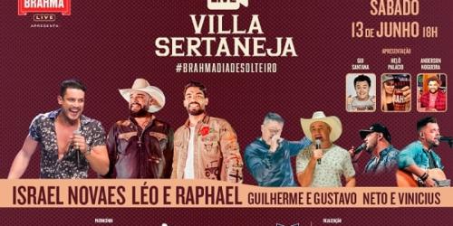 Segunda edição do Villa Sertaneja 'Brahma Dia De Solteiro' será em forma de live